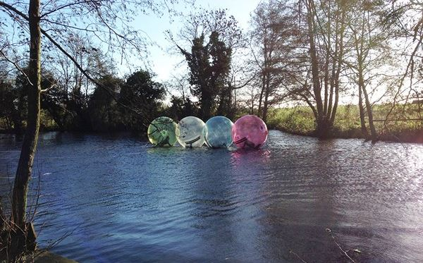 2 for 1 Water Zorbing at Pump It Up Events Amazing Experience 2