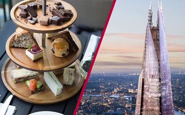 The View from The Shard and Sparkling Afternoon Tea at Hotel Chocolat for Two Amazing Experience 1