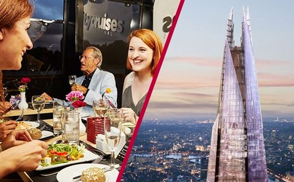 The View from The Shard and Two Course Thames Lunch Cruise for Two Amazing Experience 1