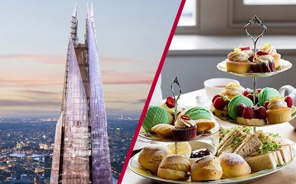 The View from The Shard with Luxury Afternoon Tea for Two Amazing Experience 1