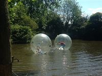 2 for 1 Water Zorbing at Pump It Up Events Experience Day