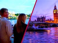 Coca Cola London Eye Tickets and Bateaux Thames Dinner Cruise for Two