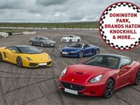 Five Supercar Driving Blast at a Top UK Race Track Experience Day