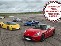Four Supercar Driving Thrill at a Top UK Race Track Experience Day