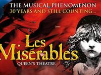 Top Price Les Misrables Tickets and a Meal for Two