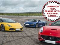 Triple Supercar Driving Blast at a Top UK Race Track Experience Day