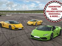 Triple Supercar Driving Thrill at a Top UK Race Track Experience Day